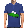 Funny Goofy Alligator Original Art Design Mens Polo