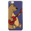 Funny Goofy Brown Bear Playing a Red Guitar Art Phone Case