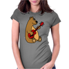 Funny Goofy Brown Bear Playing a Red Guitar Art Womens Fitted T-Shirt