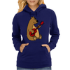 Funny Goofy Brown Bear Playing a Red Guitar Art Womens Hoodie