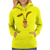 Funny Goofy Bunny Rabbit Original Art Womens Hoodie