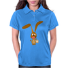 Funny Goofy Bunny Rabbit Original Art Womens Polo
