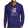 Funny Goofy Pink Pig Reading How to Fly Book Original Art Mens Hoodie