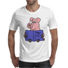 Funny Goofy Pink Pig Reading How to Fly Book Original Art Mens T-Shirt