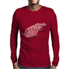 Funny Goofy Pink Pig with Hearts Original Art Mens Long Sleeve T-Shirt