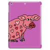 Funny Goofy Pink Pig with Hearts Original Art Tablet