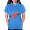 Funny Goofy Pink Pig with Hearts Original Art Womens Polo