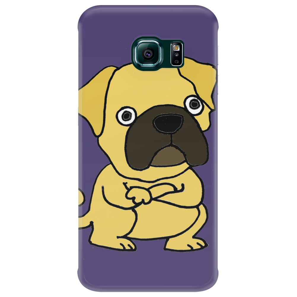 Funny Grumpy Pug Dog Cartoon Phone Case