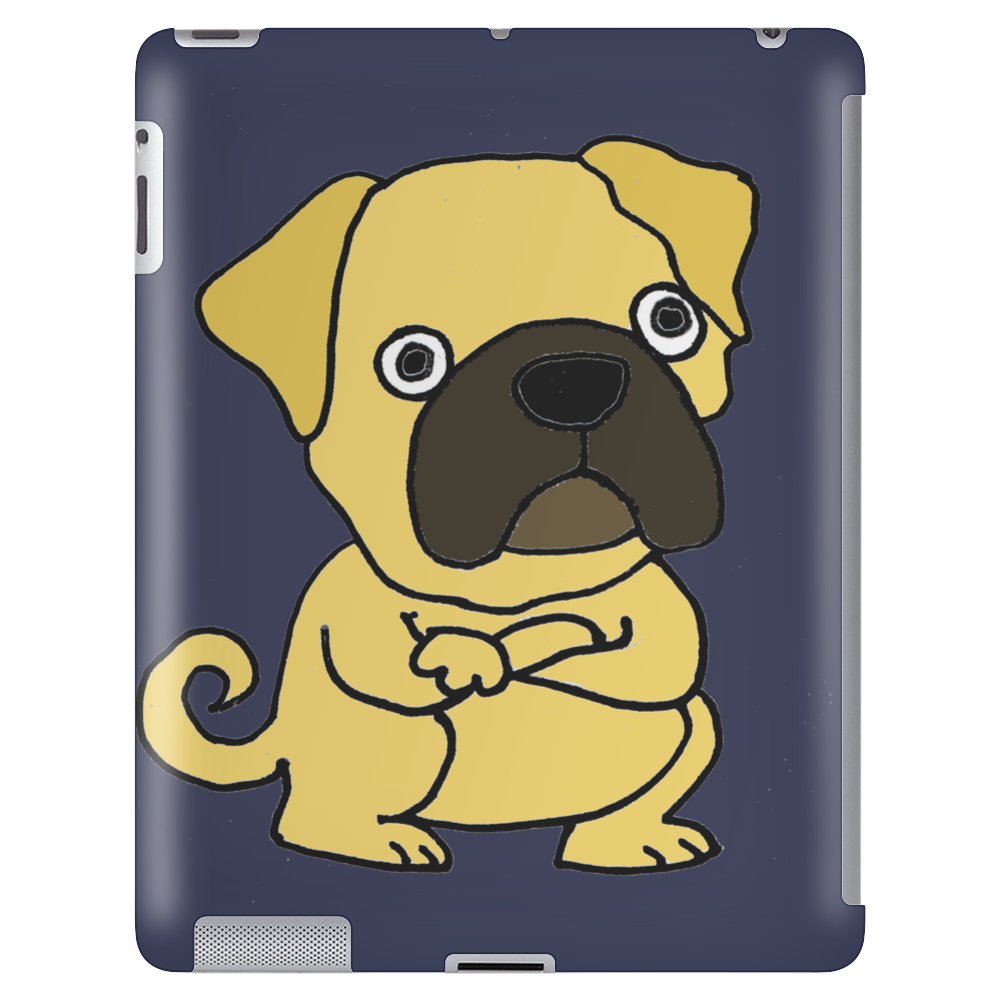 Funny Grumpy Pug Dog Cartoon Tablet