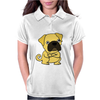 Funny Grumpy Pug Dog Cartoon Womens Polo