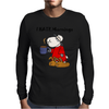 Funny Grumpy Sleepy Sheep Hates Mornings Mens Long Sleeve T-Shirt