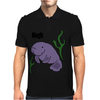 Funny Hugh Manatee Art Original Mens Polo