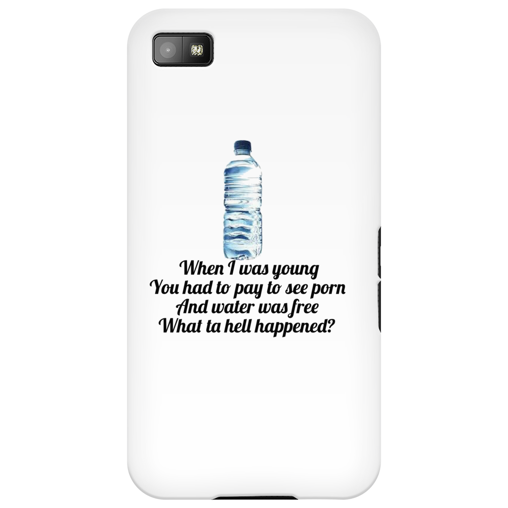 FUNNY HUMOUR LAUGH WHEN I WAS YOUNG YOU HAD TO PAY TO SEE PORN AND WATER WAS FREE WHAT TA HELL Phone Case
