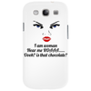 funny humour satire I am woman hear me roaaa Phone Case