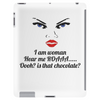 funny humour satire I am woman hear me roaaa Tablet