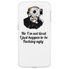funny humour satire No I'm not tired I just happen to be fucking ugly Phone Case