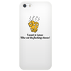 funny humour smile satire who cut the fucking cheese Phone Case