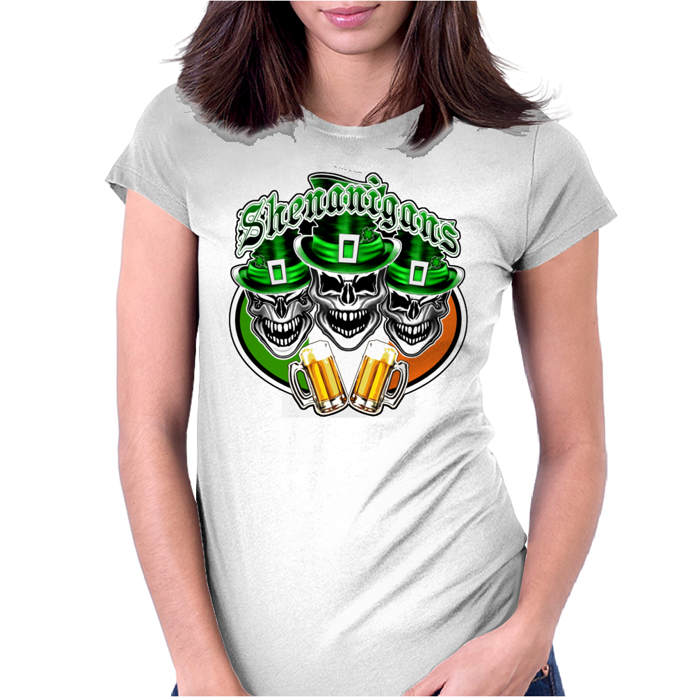 Funny Irish Skulls Womens Fitted T-Shirt