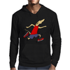 Funny Jogging Greyhound Dog Cartoon Mens Hoodie