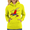 Funny Jogging Greyhound Dog Cartoon Womens Hoodie