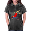 Funny Jogging Greyhound Dog Cartoon Womens Polo