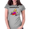 Funny Jogging Hippo Cartoon Womens Fitted T-Shirt