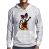 Funny Kitty Cat Playing Red Electric Guitar Mens Hoodie