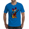 Funny Kitty Cat Playing Red Electric Guitar Mens T-Shirt