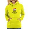 funny laughter crazyYES I GUESS YOU COULD HAVE MY NAME BUT IT WOULD BE A HELL OF A COINCIDENCE Womens Hoodie