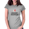 FUNNY LAUGHTER HUMOUR 911:WHAT IS YOUR EMERGENCY .I LOVE YOU, HANG UP NO YOU HANG UP FIRST HANG UP! Womens Fitted T-Shirt