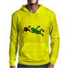Funny Leaping Pickle Playing Pickleball Artwork Mens Hoodie