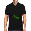 Funny Leaping Pickle Playing Pickleball Artwork Mens Polo