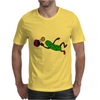 Funny Leaping Pickle Playing Pickleball Artwork Mens T-Shirt