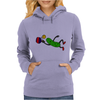 Funny Leaping Pickle Playing Pickleball Artwork Womens Hoodie