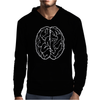 FUNNY Male Brain Ideal Birthday Gift or Present Mens Hoodie