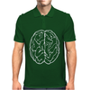 FUNNY Male Brain Ideal Birthday Gift or Present Mens Polo