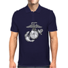 FUNNY MARINE LOGO USA Mens Polo