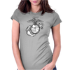 FUNNY MARINE LOGO USA Womens Fitted T-Shirt
