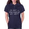 Funny Maths 666 Root of all Evil Tee Womens Polo
