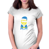Funny Minions Santa Christmas Womens Fitted T-Shirt