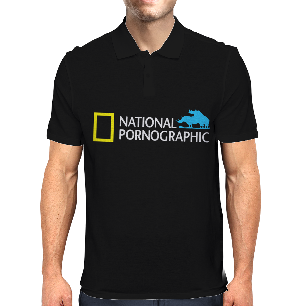 Funny National Geographic Pornographic Rhino Porn Dirty Mens Polo
