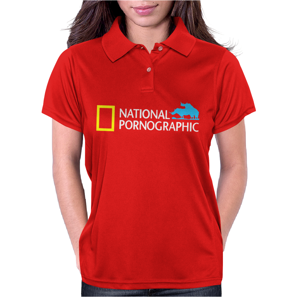 Funny National Geographic Pornographic Rhino Porn Dirty Womens Polo