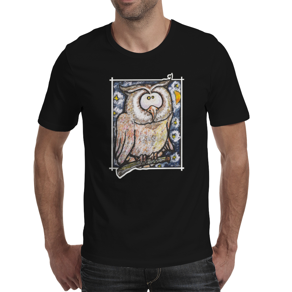 Funny Owl Mens T-Shirt