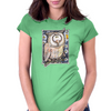 Funny Owl Womens Fitted T-Shirt