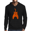 Funny Pet Cat Showing Bum Mens Hoodie