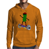 Funny Pickle on Hoverboard Original Artwork Mens Hoodie