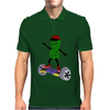 Funny Pickle on Hoverboard Original Artwork Mens Polo