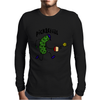 Funny Pickle Playing Pickleball Cartoon Mens Long Sleeve T-Shirt
