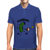 Funny Pickle Playing Pickleball Cartoon Mens Polo