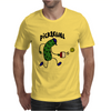 Funny Pickle Playing Pickleball Cartoon Mens T-Shirt